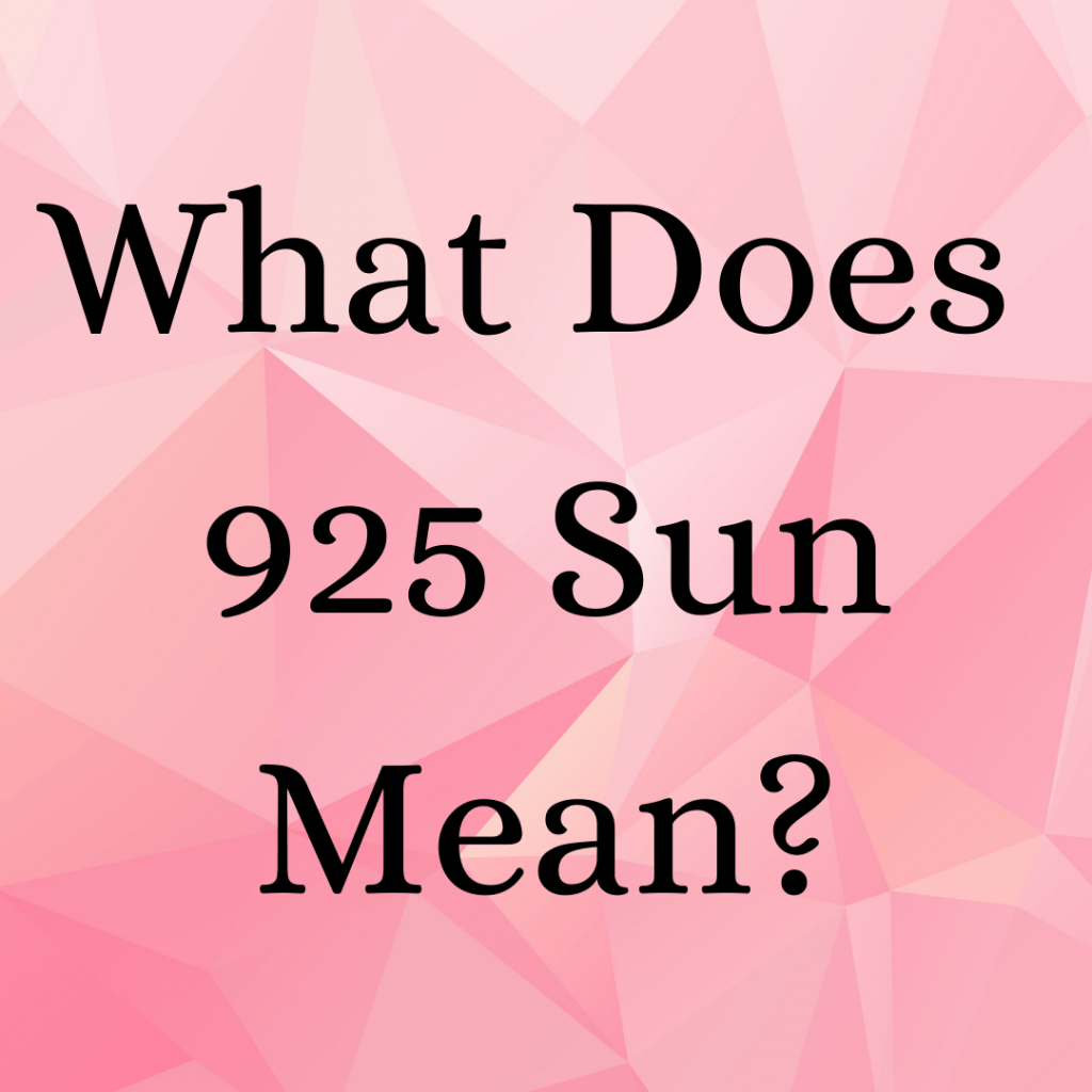 what does 925 sun mean